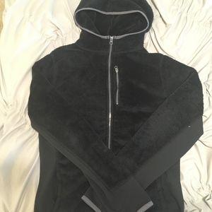 Black  Fuzzy Fleece Jacket